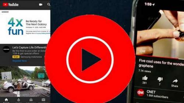 membuat youtube berlatar belakang hitam