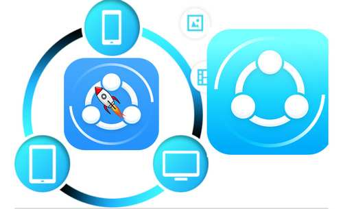 cara shareit di laptop dan android