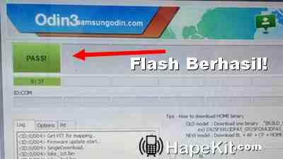 flash berhasil di HP J1 Ace