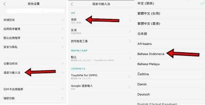 menu ubah bahasa HP CHINA ke Indonesia
