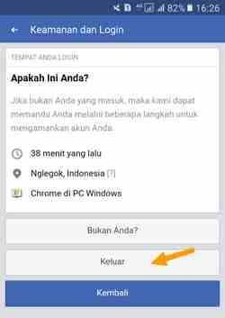 setting keamanan login facebook