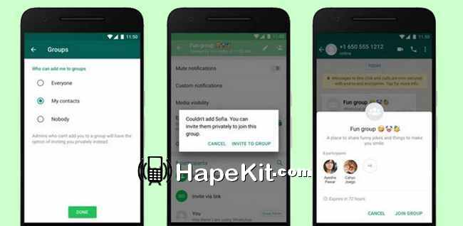mencegah undangan grup WhatsApp