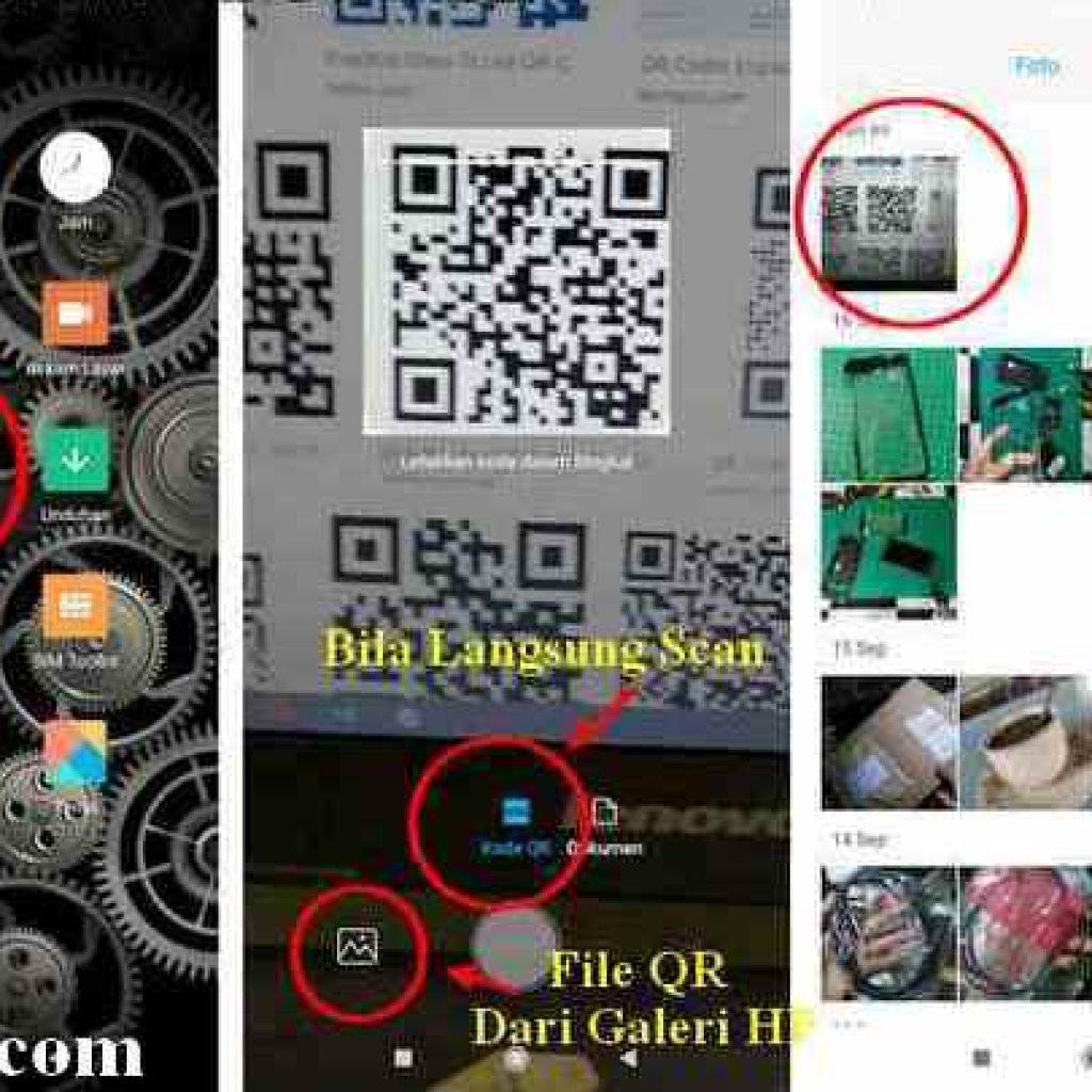 aplikasi pemindai kode QR di Xiaomi redmi