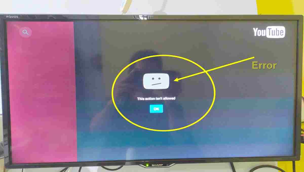 youtube error android TV BOX