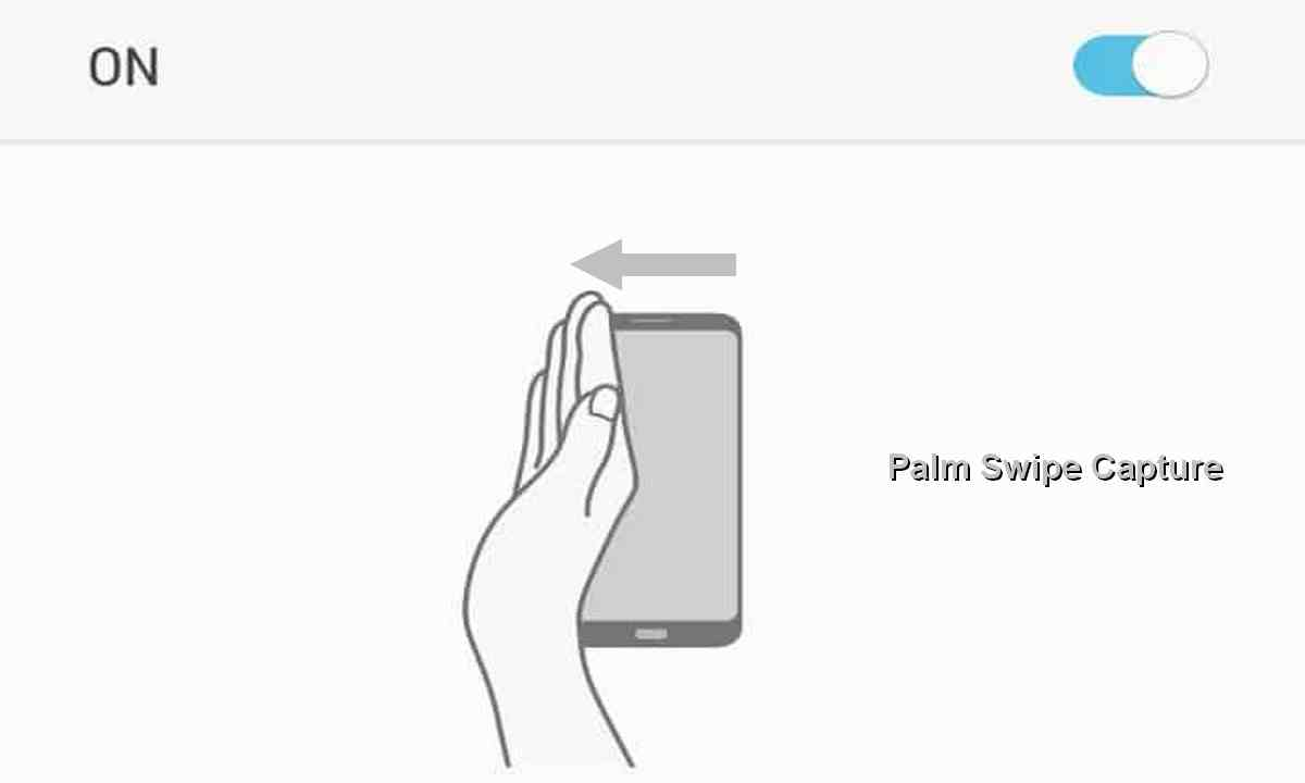 palm swipe capture samsung A50