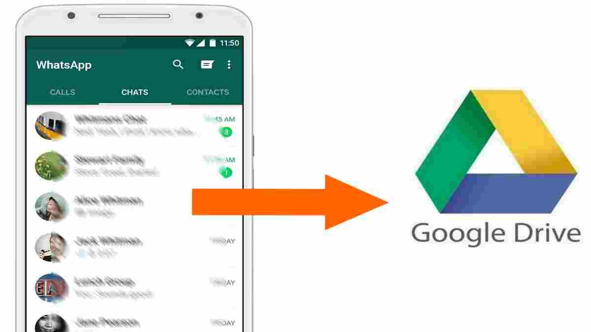 cara ekspor chat WA ke Google
