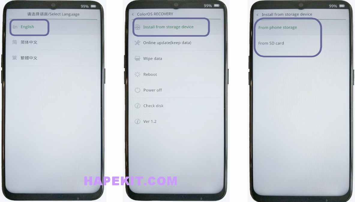 update realme lewat recovery mode