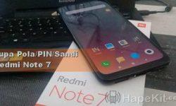 Membuka Lupa PIN Pola atau Sandi Redmi Note 7