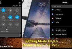 Setting Tampilan Layar Hitam di Redmi Note 7 / 8