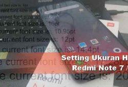 Cara Mengganti Ukuran Teks di Redmi Note 7